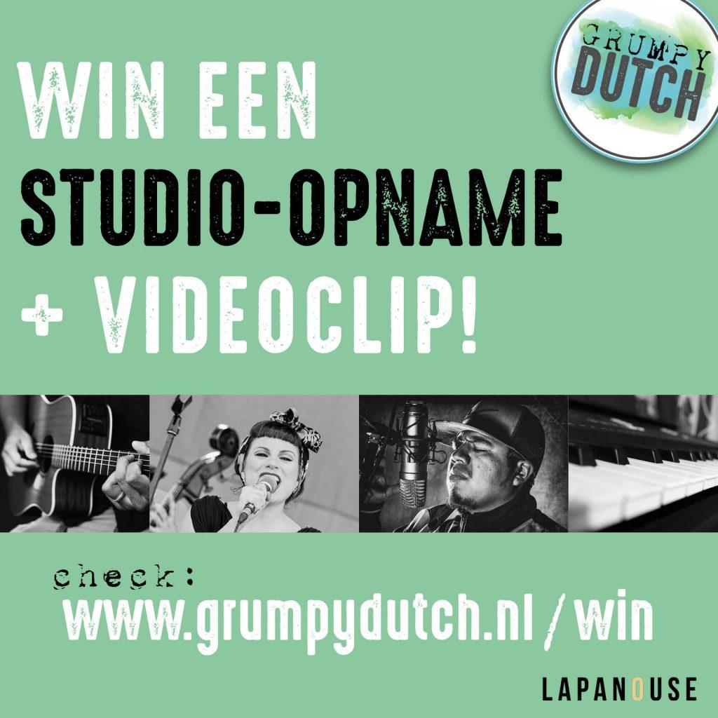 Win een studio-opname @ Grumpy Dutch